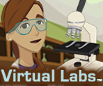 Image of woman with lab goggles and microscope